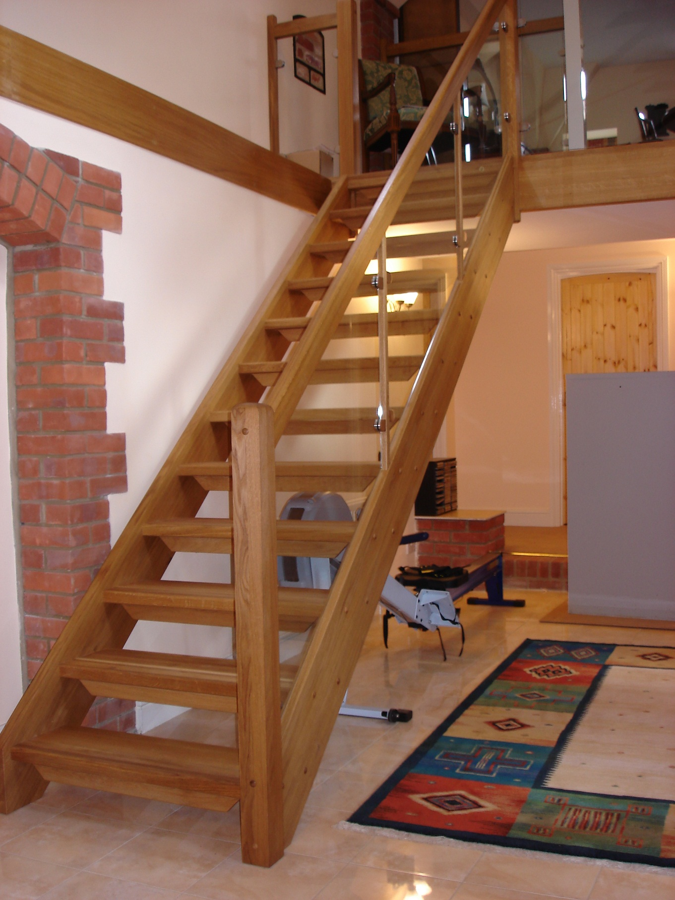 Calculation of the length of the stairs to the second floor